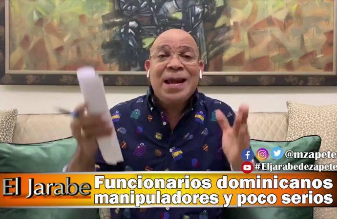Funcionarios dominicanos manipuladores y poco serios | El Jarabe Seg-3 29/04/20