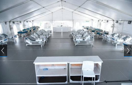 Hospital móvil que donó PRM en La Vega continúa cerrado, a pesar de que fue inaugurado