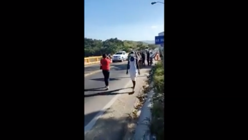 Patrulla de la Policía y del 9-1-1 escoltaron la llegada del peregrino a Puerto Plata