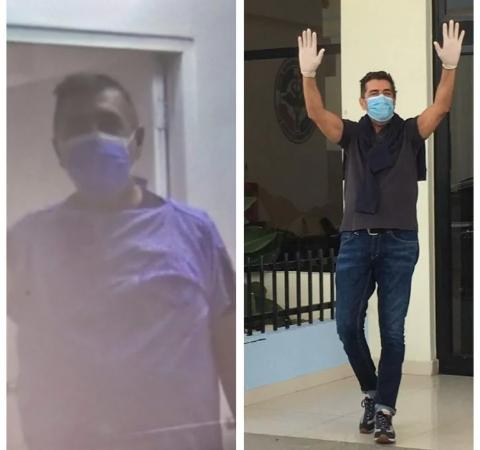 Así despidieron al italiano en el Hospital Ramón de Lara, luego de dos meses ingresado