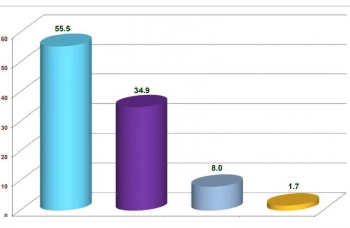 Encuesta CEC: Luis Abinader 55.5%, Gonzalo Castillo 34.9%