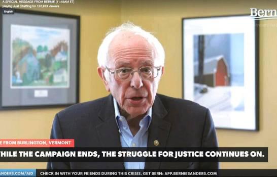 Bernie Sanders anuncia apoyo a Joe Biden