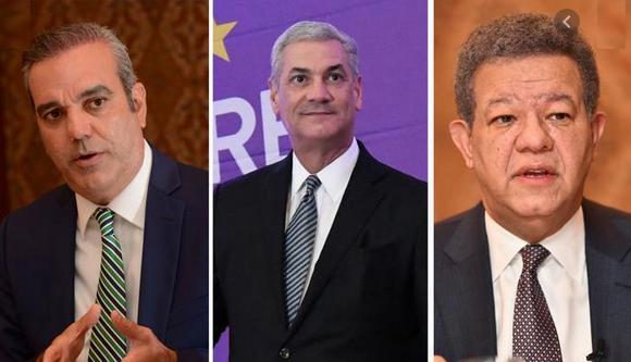 Luis 53.9%, Gonzalo, 35.2% y Leonel 9.5% en más reciente encuesta del Centro Económico