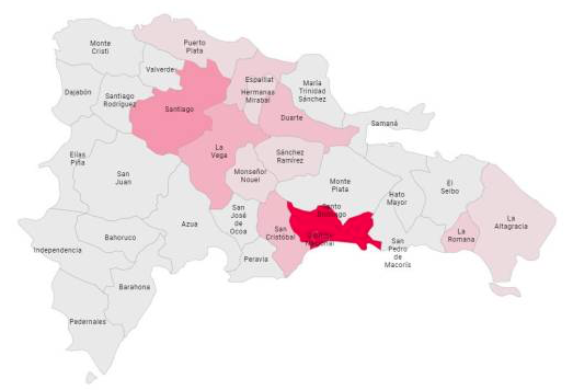 San Cristóbal supera a la provincia Duarte en casos de coronavirus