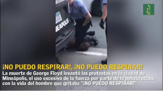 """""""No puedo respirar"""", el grito de un hombre antes de morir bajo custodia de policial en Estados Unidos"""
