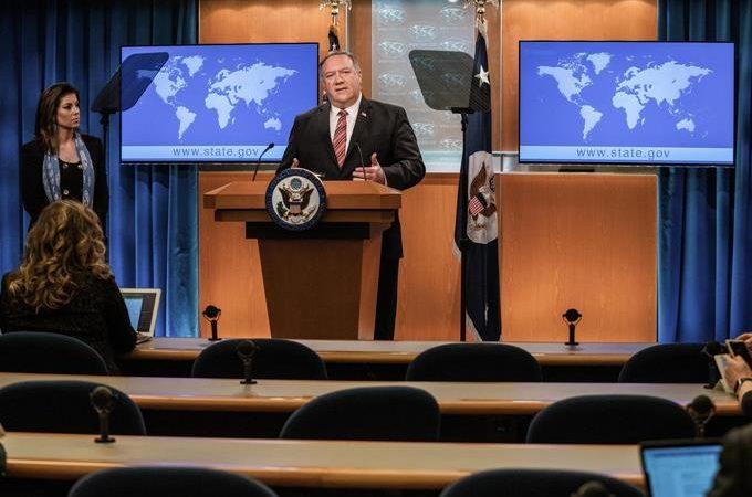 """China dice acusaciones de Pompeo son """"estrategia"""" para tapar """"incompetencia"""" de Trump"""