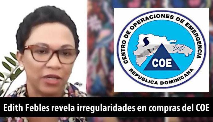 Respuesta del COE a irregularidades denunciadas por periodista Edith Febles