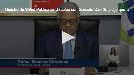 Ministro de Salud Pública admite equivocación sobre donaciones de Gonzalo Castillo