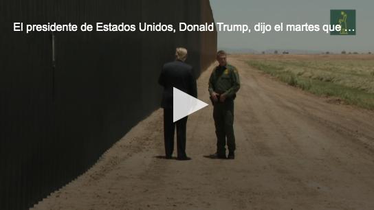 Trump alega que su muro con México 'frenó la COVID' pese al repunte en EE.UU.