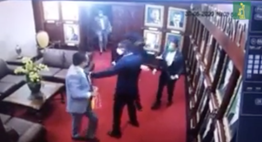 Video | Los diputados Levis Suriel y Aridio Vásquez se fajan a los puños