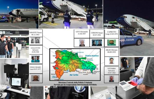 Ocho miembros de una poderosa mafia italiana estaban establecidos en República Dominicana