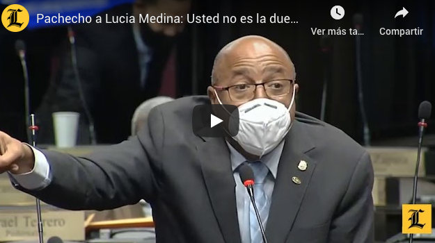 Pacheco a Lucia Medina: Usted no es la dueña de este país