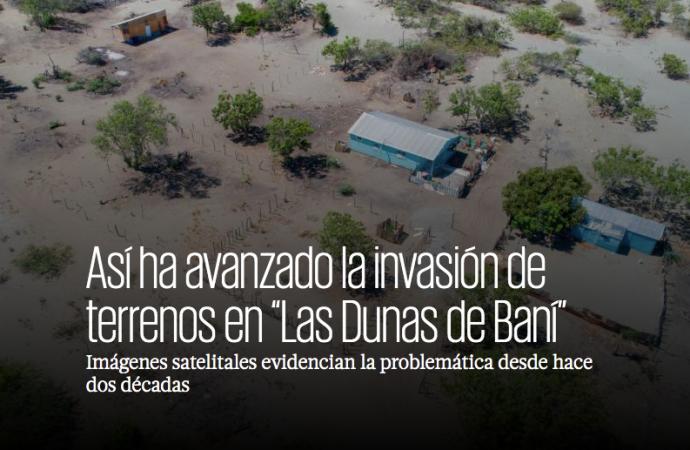 """Así ha avanzado la invasión de terrenos en """"Las Dunas de Baní"""""""