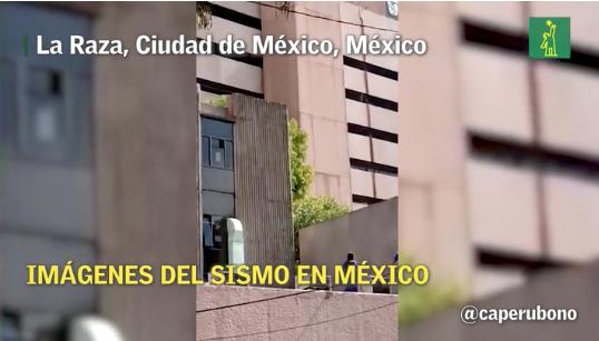 Así se vivió el temblor en el sur de México este martes