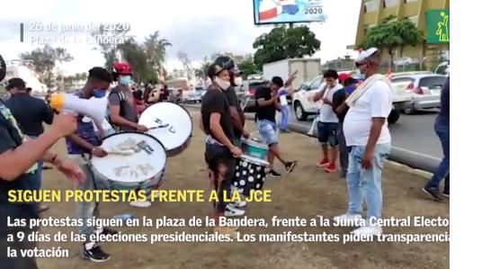 Manifestantes de la Plaza de la Bandera niegan estar patrocinados por la oposición
