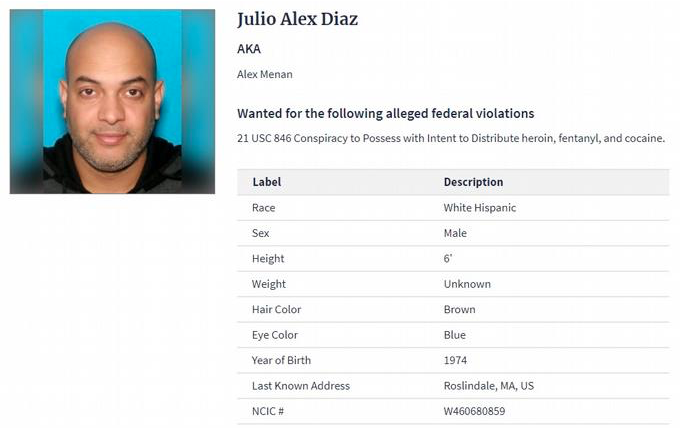 Un dominicano es el segundo más buscado por la DEA, vinculado a carteles de México y RD