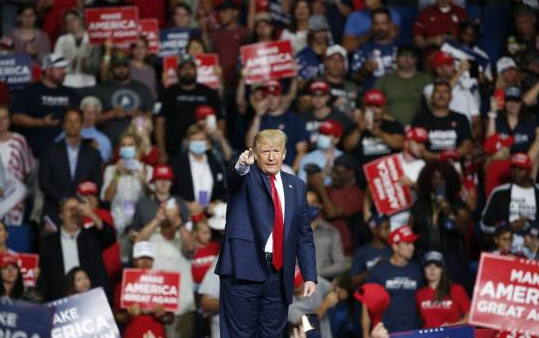 Trump reanuda actos de campaña: hubo poca asistencia