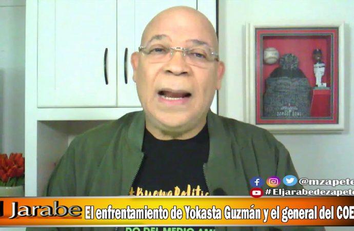 El enfrentamiento de Yokasta Guzmán y el general del COE   El Jarabe Seg-3 03/06/20