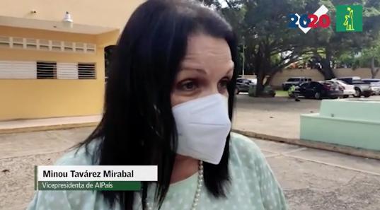 Minou Tavarez denuncia aglomeraciones en recintos de votaciones