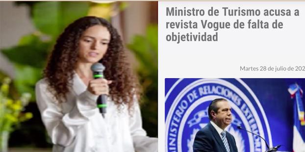 """Fotógrafa deja """"con la cara larga"""" al ministro de Turismo dominicano"""