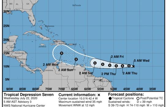 Se forma la tormenta tropical Gonzalo; Onamet vigila su evolución