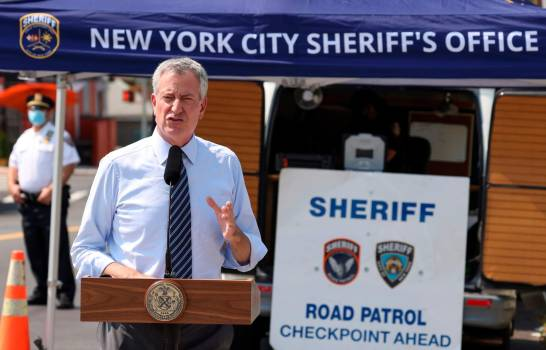 El 20 % de nuevas infecciones en Nueva York vienen de fuera, según alcalde