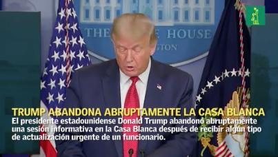 Video | Sacan abruptamente a Trump de sala de prensa de la Casa Blanca; hubo un tiroteo