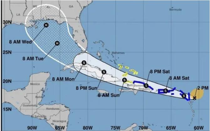 10 provincias en alerta amarilla y 9 en verde ante paso de tormenta Laura