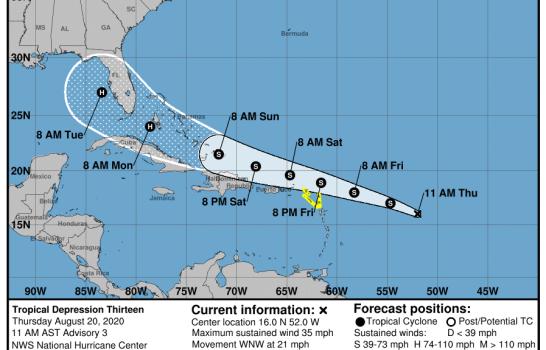 Presidente Abinader convoca Comisión Nacional de Emergencia ante amenaza de depresión tropical