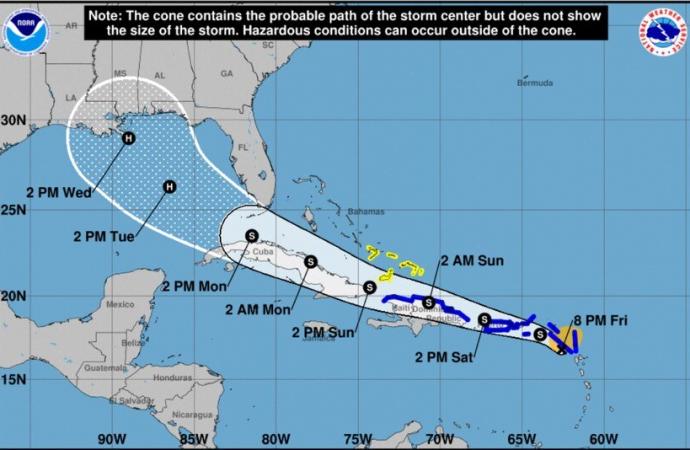 La tormenta tropical Laura se ubica a 250 millas de Puerto Rico y mantiene vientos de 45 mph
