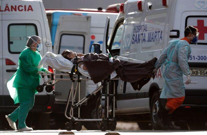 Brasil suma 1,154 nuevas muertes por COVID-19 y el total se acerca a 96,000