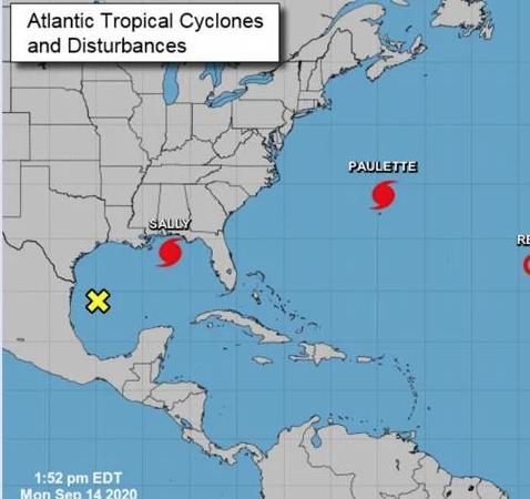 Sally se convierte en huracán rumbo a EEUU en panorama complicado en el Atlántico