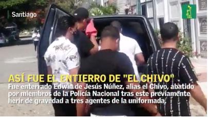 """Así enterraron a """"el Chivo"""", acusado de varias muertes"""