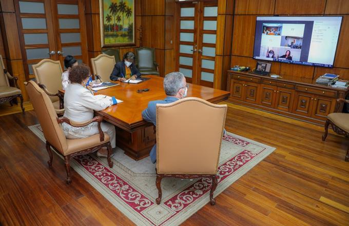 Miriam Germán y embajadora EE.UU. tratan sobre combate al narcotráfico y crimen organizado