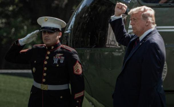 Trasladan a Trump a un hospital militar por «precaución»