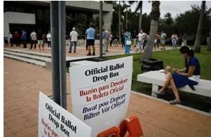 Comienza el voto anticipado en Florida, donde Biden y Trump corren cabeza a cabeza