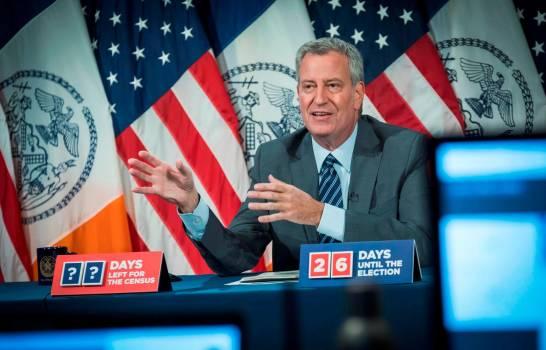 El alcalde de Nueva York pide al público no viajar en temporada festiva