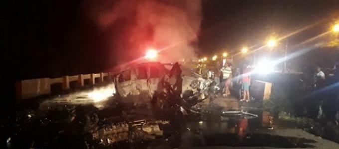 Cuatro personas fallecen en accidente de tránsito en la autopista Duarte