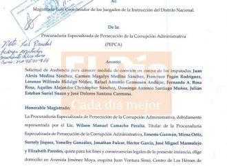 Solicitud de medida de coerción contra Alexis Medina Sánchez y compartes