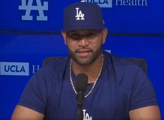 Pujols se declara emocionado de vestir el uniforme de los Dodgers