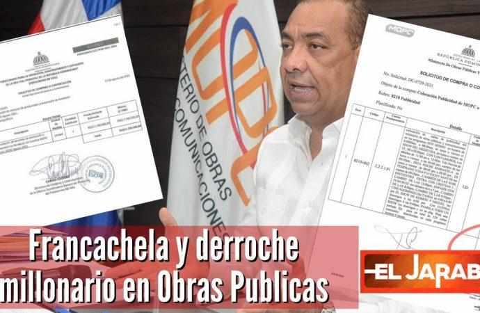 Francachela y derroche millonario en Obras Publicas   El Jarabe Seg-3 17/09/2021